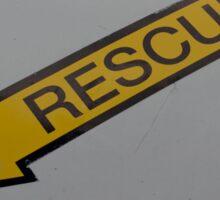 Rescue Arrow Insignia Sticker
