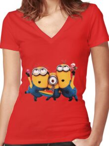 Minion by remi42 Women's Fitted V-Neck T-Shirt