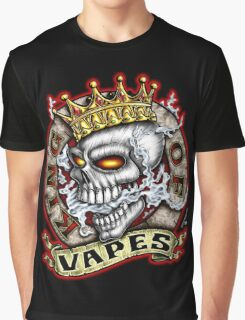 King Of Vapes (Skull With Crown) Graphic T-Shirt