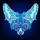 - Magic blue fox -  by Losenko  Mila