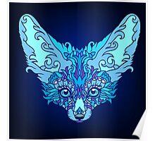 - Magic blue fox -  Poster