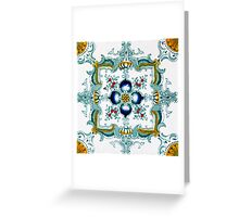 Victorian Wall Tiles Pattern Greeting Card