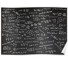 Blackboard With Math Formulars Poster