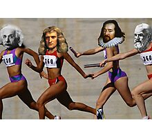 Science is a relay race Photographic Print