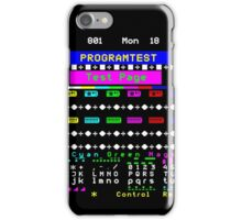 Teletext Test Page iPhone Case/Skin