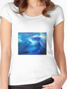 The wake - an original oil painting Women's Fitted Scoop T-Shirt