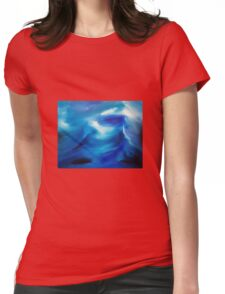 The wake - an original oil painting Womens Fitted T-Shirt