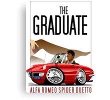 Alfa Romeo Duetto caricature from the Graduate Canvas Print