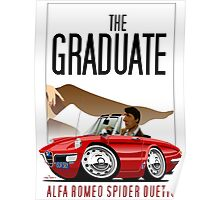 Alfa Romeo Duetto caricature from the Graduate Poster