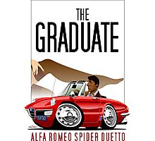 Alfa Romeo Duetto caricature from the Graduate Photographic Print