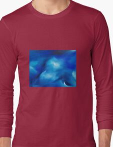 The moving sea - an original oil painting Long Sleeve T-Shirt