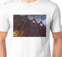 Springtime Amsterdam - Bright Red Window Shutters in the Evening Breeze - Right  Unisex T-Shirt