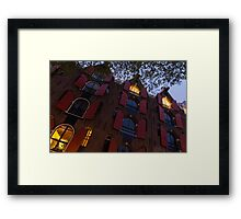 Springtime Amsterdam - Bright Red Window Shutters in the Evening Breeze - Right  Framed Print