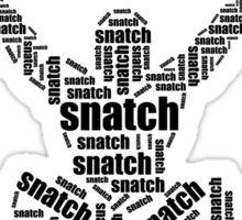 Crossfit - Snatch Words Sticker