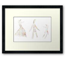 Rainbow Dancers Framed Print