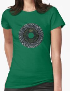 Vinyl Mandala Womens Fitted T-Shirt
