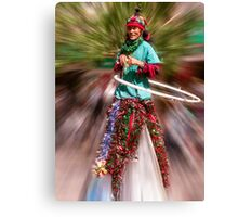 Stilts and hoops Canvas Print