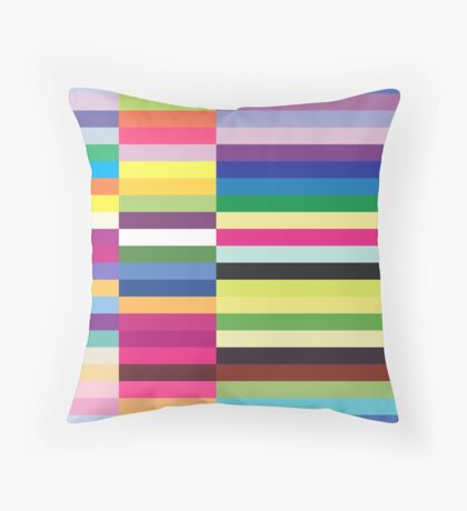 Compelling Colorful Striped Pattern Throw Pillow