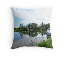 Early Morning on the Thames Throw Pillow