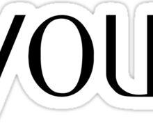 Be.you.tifil Sticker