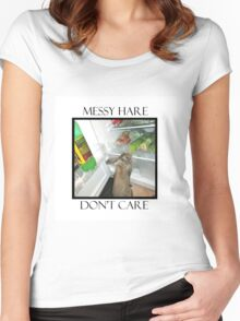 messy hare Women's Fitted Scoop T-Shirt