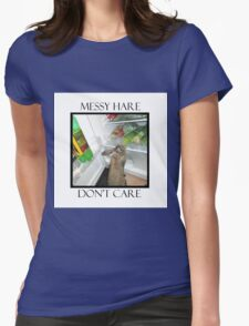 messy hare Womens Fitted T-Shirt