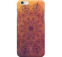 Peach mandala iPhone Case/Skin