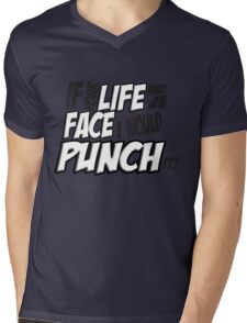 If Your Life Had A Face  I Would Punch It! - Scott pilgrim vs The World Mens V-Neck T-Shirt