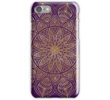 Purple vintage gold mandala iPhone Case/Skin