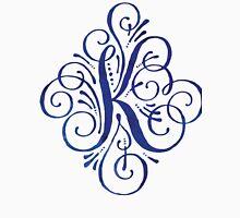 Monogram Watercolor Calligraphy Letter K Unisex T-Shirt