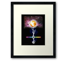 sun earth moon Framed Print
