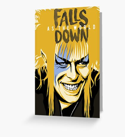As the World Falls Down Greeting Card
