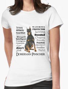 Black and Tan Doberman Traits Womens Fitted T-Shirt