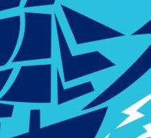 Tall Sailing Ship Lightning Bolt Circle Sticker