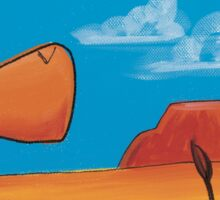 Aussie Splatter Sticker