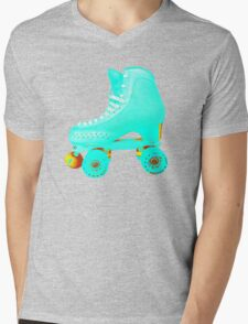 Blue Roller Skate Mens V-Neck T-Shirt