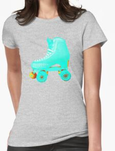 Blue Roller Skate Womens Fitted T-Shirt