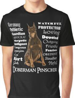 Red Doberman Traits Graphic T-Shirt