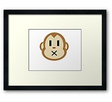Monkey Closed Mouth Framed Print