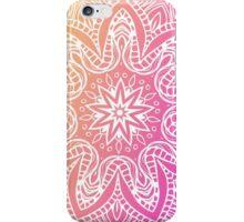 Orange and pink mandala iPhone Case/Skin