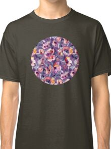 May Afternoon - a watercolor floral in purple and peach Classic T-Shirt