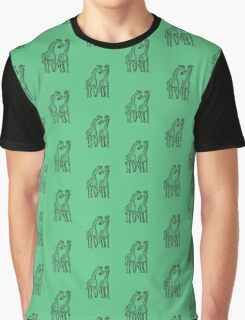 Romantic Giraffes Graphic T-Shirt
