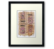 Tea Bag Textile 1 Framed Print