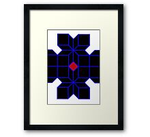 Tron Cubes  Framed Print