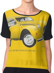Citroën 2CV from For Your Eyes Only Chiffon Top
