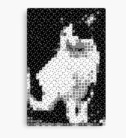 Domino, the Black & White Cat Canvas Print