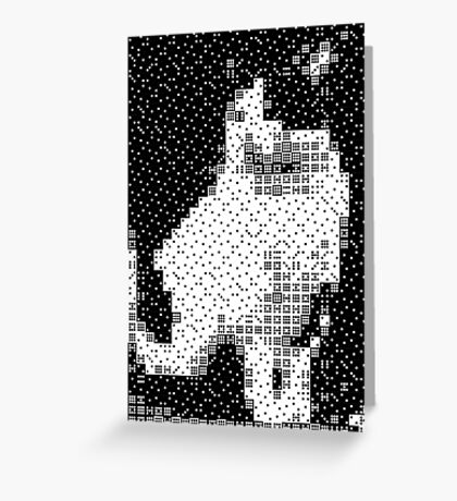 Domino, the Black & White Cat Greeting Card