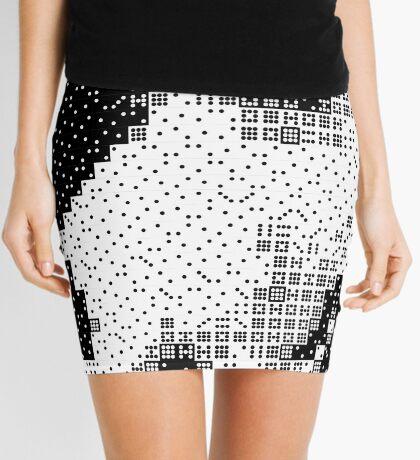 Domino, the Black & White Cat Mini Skirt