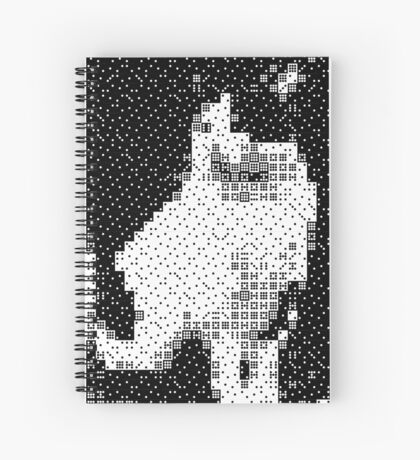 Domino, the Black & White Cat Spiral Notebook