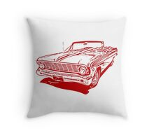 '64 Falcon Convertible - Rangoon Red Throw Pillow